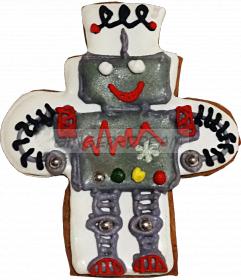 """Детские пряники ручной работы """"Робот"""" Сладкие подарки детям"""