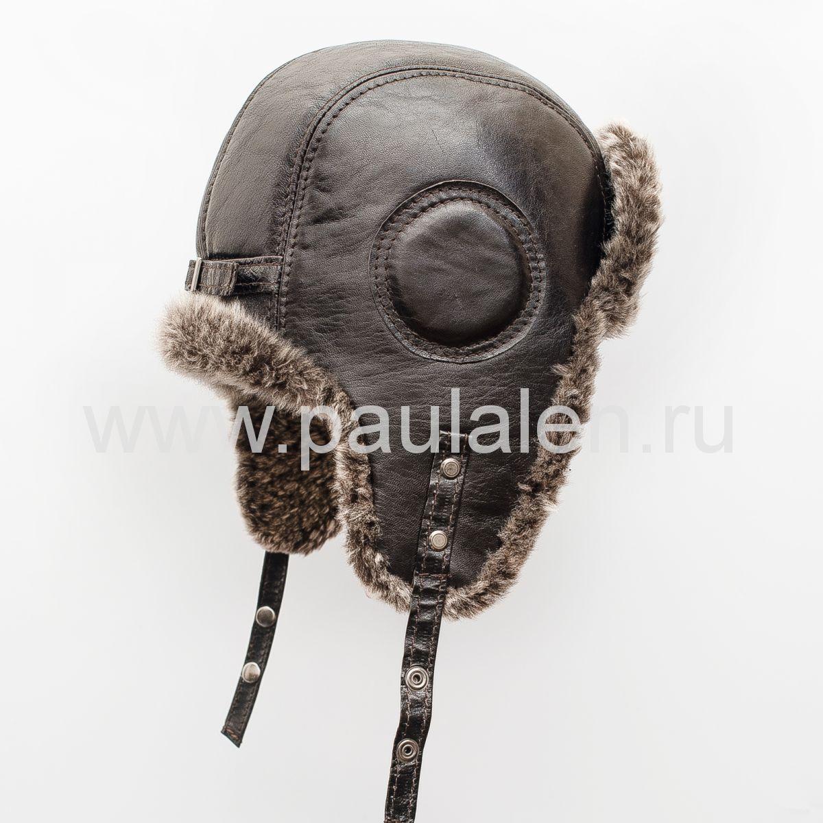 Меховая шапка из овчины Авиатор