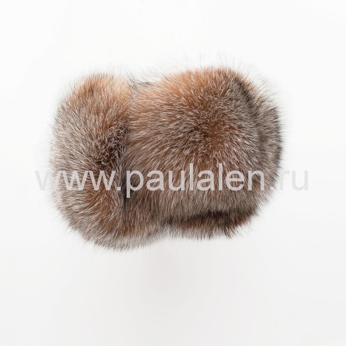 Меховая шапка ушанка из чернобурки