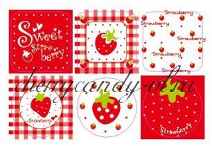 Наклейки - стикеры для упаковки Про любовь, 3 вида