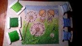Схема для вышивки крестом Нежные иллюстрации - Одуванчики. Отшив