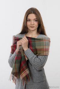 шотландский шарф 100% шерсть ягнёнка , расцветка шотландского городка Моссат Mossat tartan ,плотность 6