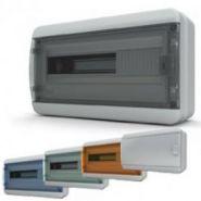 Бокс пластик. 1 ряд 18 мод. IP65 навесной (комплект 1), дверь прозр.-черная