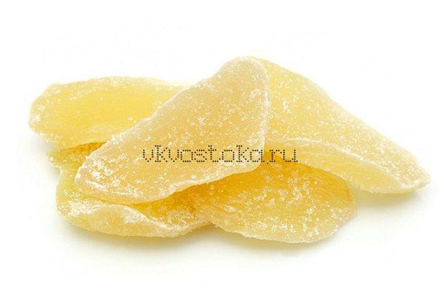 Имбирь лист с сахаром 100г