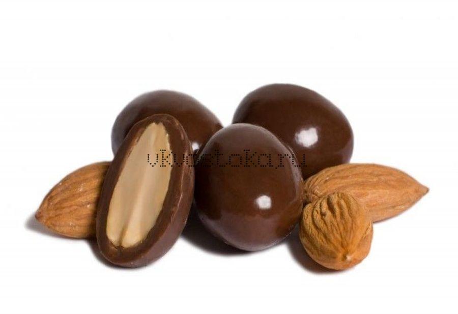 Миндаль в темном шоколаде 100гр