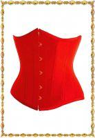 Красный корсет под грудь