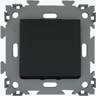 Выключатель одноклавишный черный  CGSS W101 BC