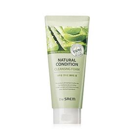 THE SAEM NATURAL CONDITION CLEANSING FOAM RELAXING 150ml - расслабляющая пенка с алоэ и гаммамелисом