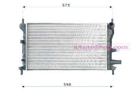 Радиатор охлаждения 1,3 МТ FORD FIESTA  11.95г.- 08.99г.