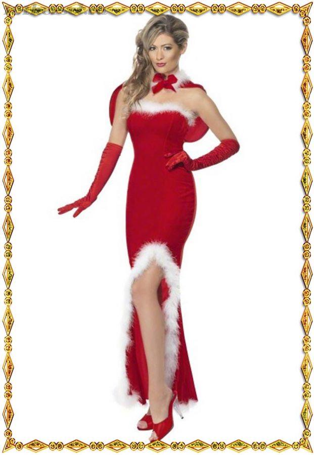 Длинное сексуальное Новогоднее платье