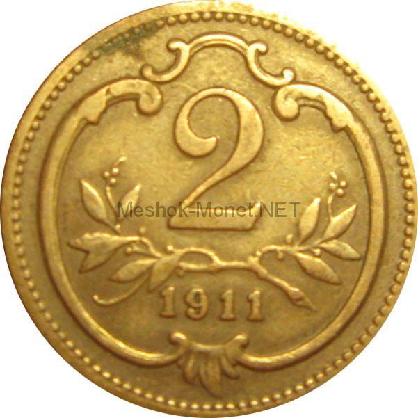 Австрия 2 хеллера 1896 г.