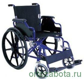 Кресло-коляска с откидными подлокотниками и съемными подножкам (CA931B)