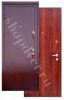 Металлические двери порошковый окрас с броне полосой + Ламинат