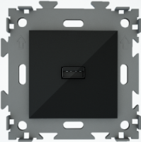 """Розетка USB черная """"Эстетика"""" GL-W201U-BCM"""