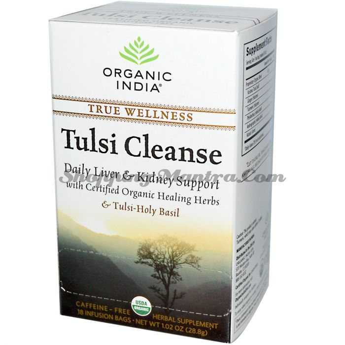 Чай Тулси Клинс для очищения печени и почек Органик Индия / Organic India Tulsi Cleanse Tea Bags