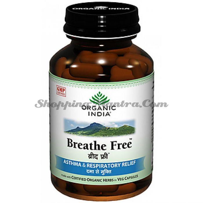 Препарат для лечения респираторных заболеваний Breathe Free Органик Индия / Organic India Breathe Free