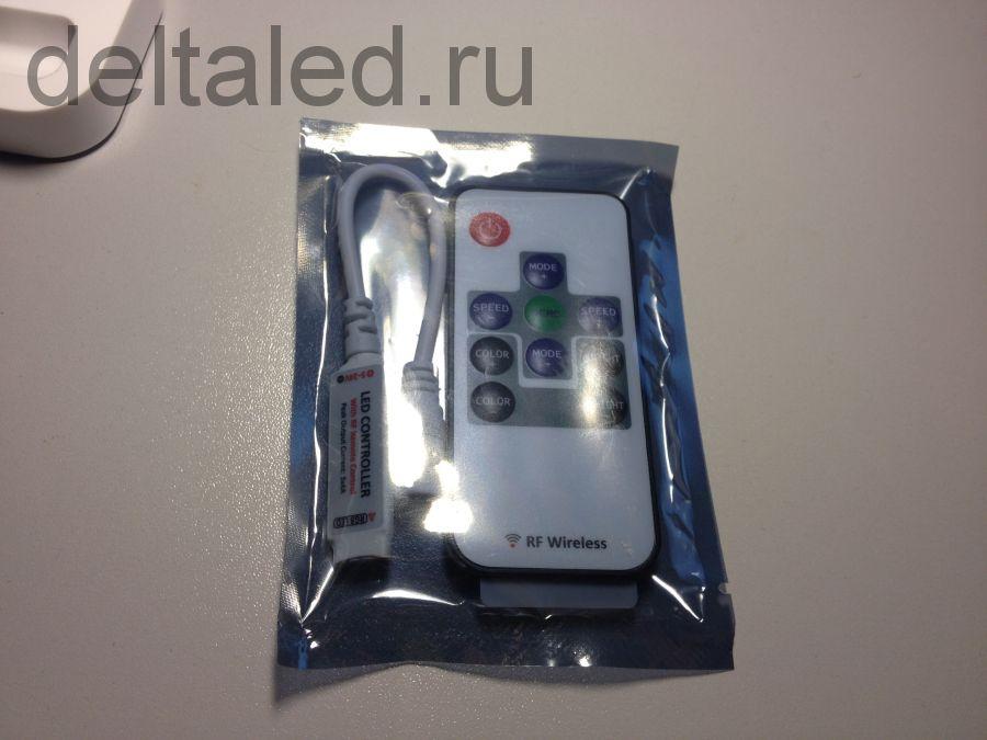 Ультратонкий контроллер светодинамики для светодиодов на радио управлении L-Mini-4P-RF одноцветный
