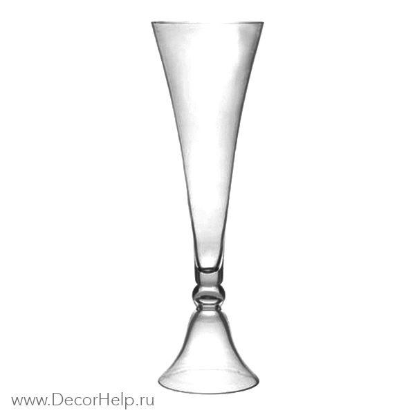 Ваза стеклянная конус двухсторонняя арт: PCB083
