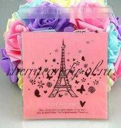 """Пакет прозрачный """"Любовь в Париже"""", 10*10 см., 10 шт."""