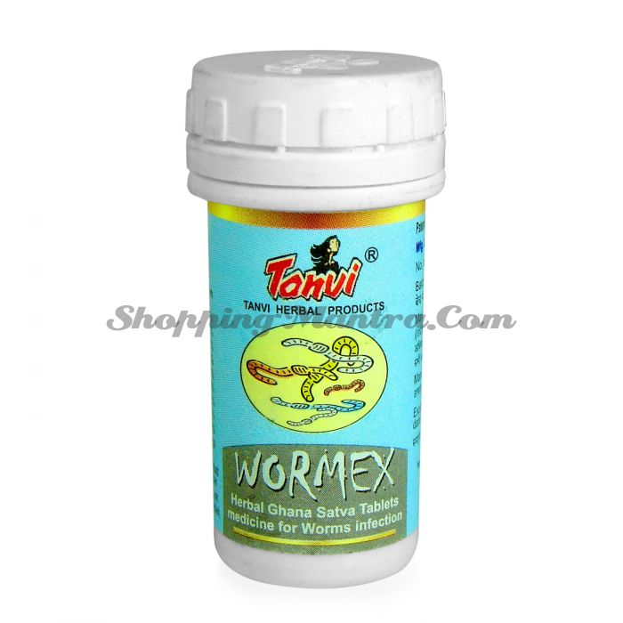 Противопаразитарный очищающий препарат Вормекс Танви Хербал / Tanvi Herbal Wormex Tablets