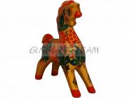 Конёк расписной Изящная игрушка Эксклюзивный сувенир Хохлома