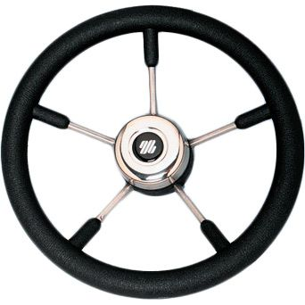 Руль (рулевое колесо, штурвал) V.57B диаметром 350 мм. черного цвета