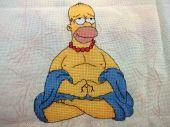 Схема для вышивки крестом Гомер. Отшив