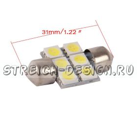 Светодиодная панель белая  10*31 6smd 5050 12V