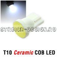 Светодиодная лампа T10 Ceramic COB белая 12V