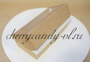Коробка картонная ECO TABOX  с окном,  7*4*17 см