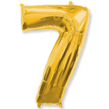 "Фигура ""7""  (40""/102 см) золото"