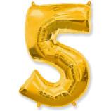 "Фигура ""5""  (40""/102 см) золото"