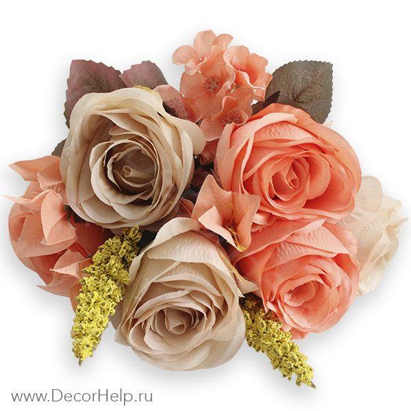 Розы караловые  (10шт) арт: DCR003