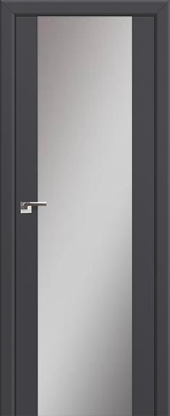 Межкомнатная дверь Профильдорс 8U Антрацит, зеркальный триплекс