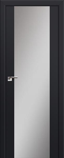 Межкомнатная дверь Профильдорс 8U Чёрный матовый, зеркальный триплекс
