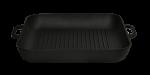 Сковорода гриль квадратная Ситон  280х280х40 с прессом ЧГ 282840 арт. (код 50)