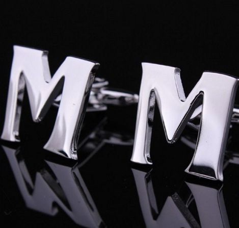 Запонки буква M