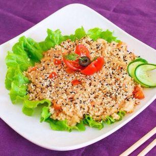 Рис вегетарианский с овощами