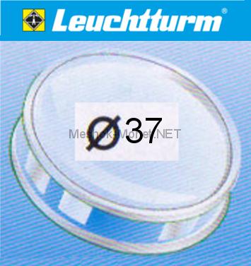 Капсула для монеты Leuchtturm 37 мм, упаковка 10 шт