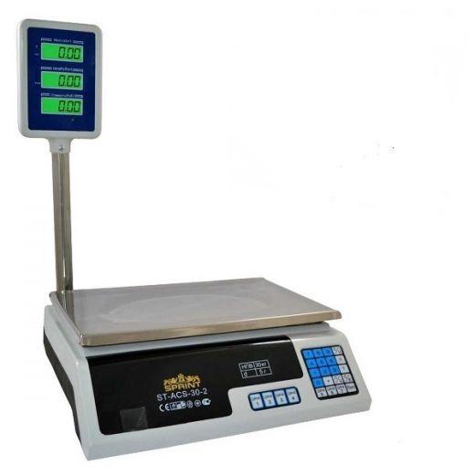 Весы торговые электронные Sprint ST-ACS-30-2 со стойкой