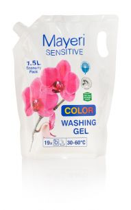 Гель для стирки цветного. Гипоаллергенный. Mayeri Sensitive Color 1,5 л