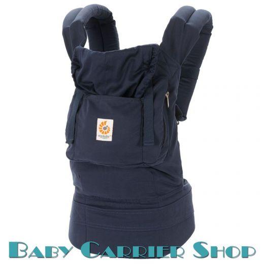 Слинг-рюкзак ERGO BABY CARRIER Эргорюкзак для переноски малышей «Twill Navy Organic» [Эрго Беби BC12TOMNL слингорюкзак Темно-синий]