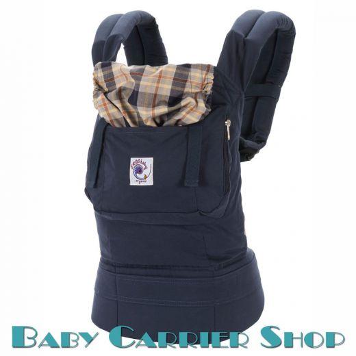 Слинг-рюкзак ERGO BABY CARRIER Эргорюкзак для переноски малышей «Highland Navy Plaid Organic» [Эрго Беби BCO417NP слингорюкзак Синяя клетка]