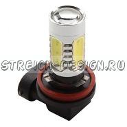 Светодиодная лампа H11 COB 7W белая 12V
