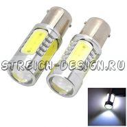 Светодиодная лампа 1157(два контакта) COB 7W белая 12V
