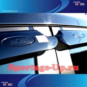 Чёрные дефлекторы (ветровики) окон MOBIS