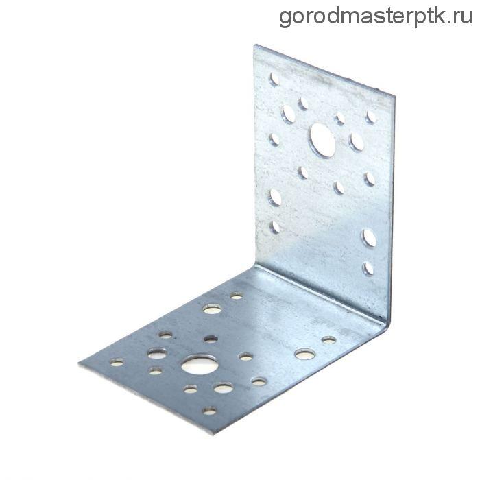 Уголок крепежный оцинкованный 100х100х90х2 мм