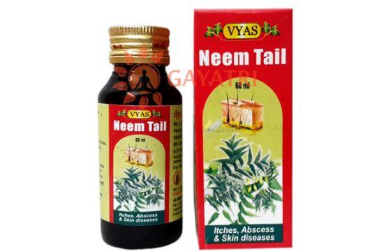 Аюрведическое масло Ним от кожных заболеваний, 60 мл, производитель Вьяс; Neem Tail (Oil), 60 ml, Vyas