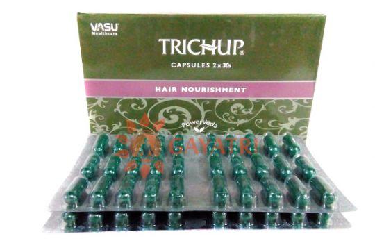 """Травяные капсулы для роста волос """"Тричуп"""", 60 капсул. Производитель """"Васу"""" /Trichup capsules Hair Nourishment/ Vasu/ 70/"""