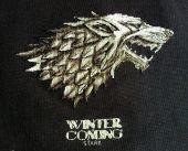 Схема для вышивки крестом Winter Is Coming. Отшив